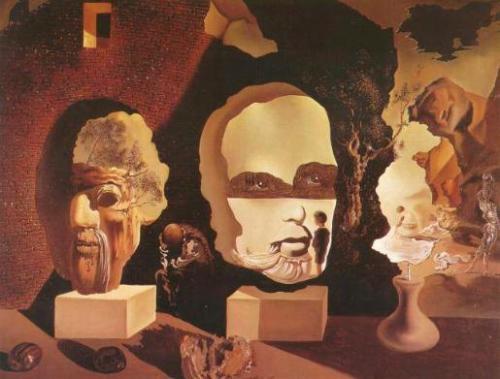 Dit lijkt de gestolen gouache of schilderij te zijn van Dali, alhoewel de datum niet klopt; het behoort tot een serie  over de stadia van het leven