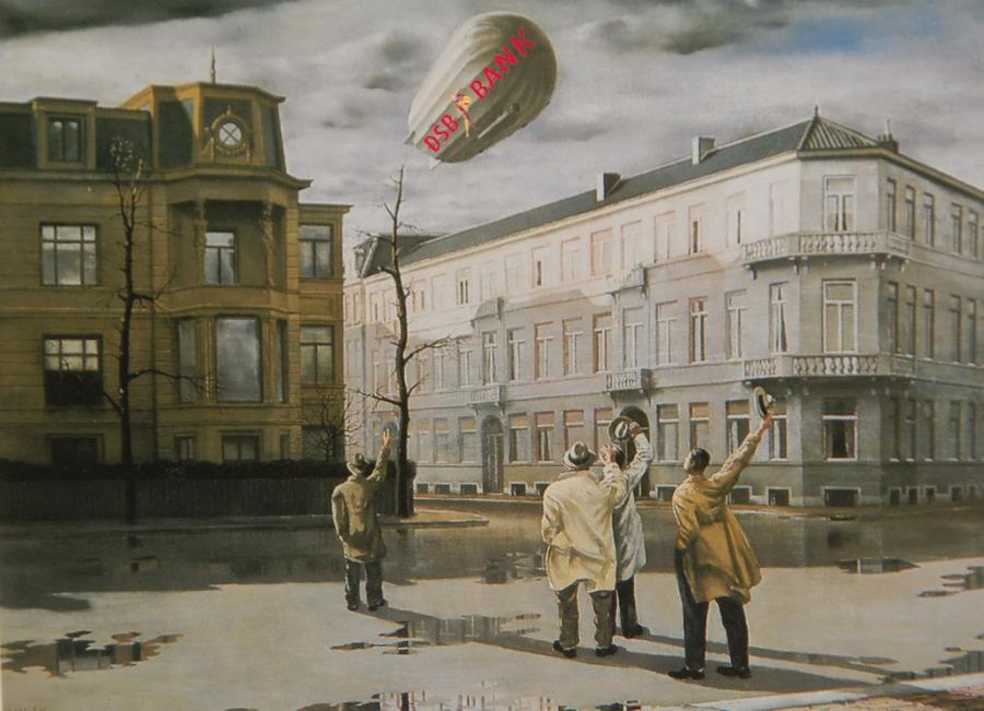 De Zeppelin / The Blimp (1933). Artist: Carel Willink (The Netherlands 1900-1983). Collection: heirs Carel Willink Located until 06-01-2008: 'Scheringa Museum For Realisme' Spanbroek The Netherlands.