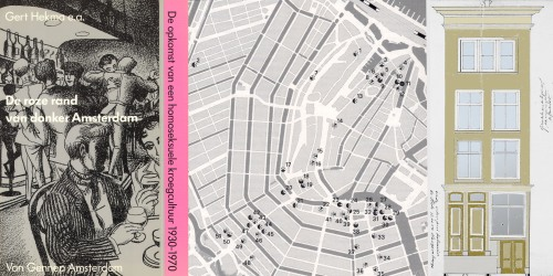 """The pink margin of dark Amsterdam,  rise of the homosexual bar-culture in Amsterdam 1930-1970"" a publication from 1992 by Gert Hekma and his wide circle of informants. With a map showing the location of bars over 60 years."