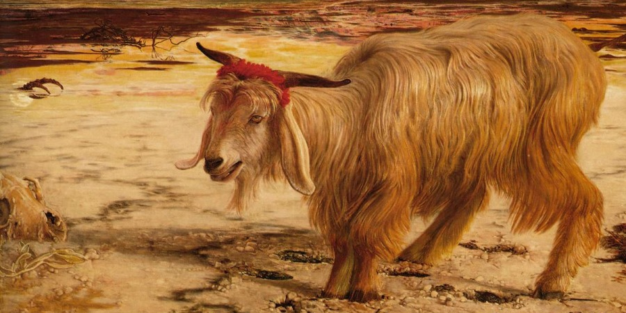 "Detail of painting (1854) ""The Scapegoat"" by William Holman Hunt (1827-1910)"
