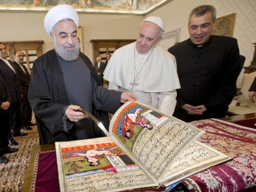HassanRouhaniPopePersianMiniatures